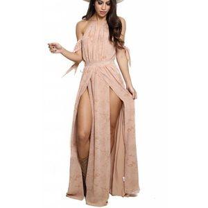 The Jerset Diaries Sierra Maxi Dress, blush, S